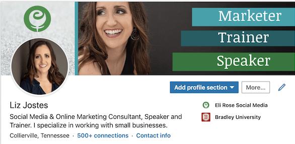 Updated linkedin profile